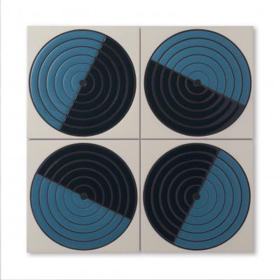Hand-painted Fireclay Tile