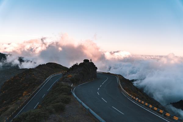 turning road