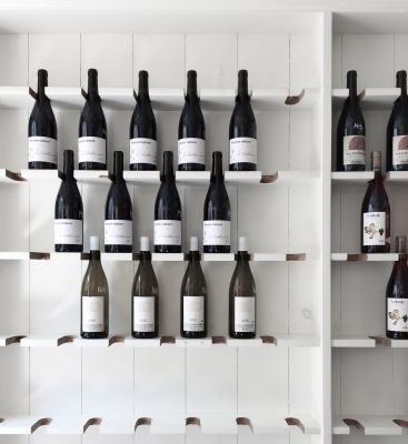 Wine rack on wall