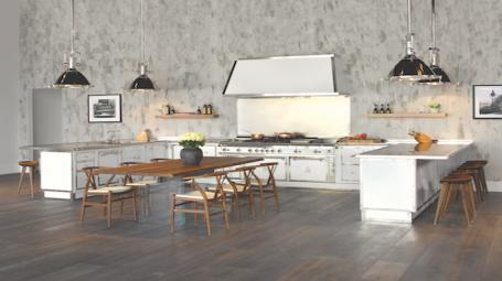 Customized kitchen in white by Officine Gullo