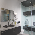 The New American Home 2019_spa bath_vanity_shower_shower bench