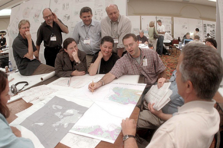 Charrette with urban planners