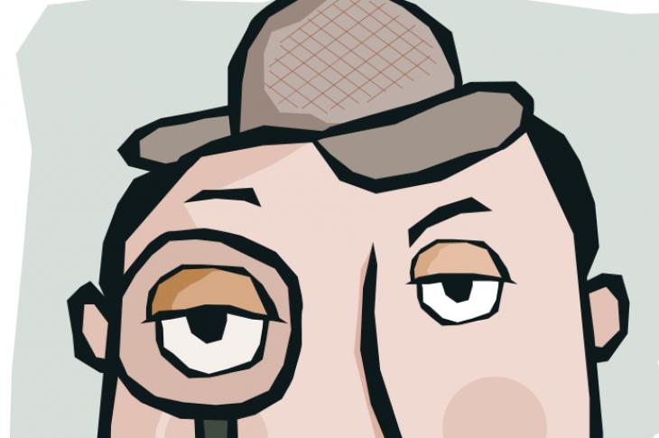 Sherlock Holmes sleuth illustration