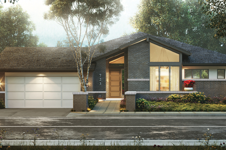 Attrayant Front Elevation Of The 55+ Wellness House Design By KGA Studio Architects.