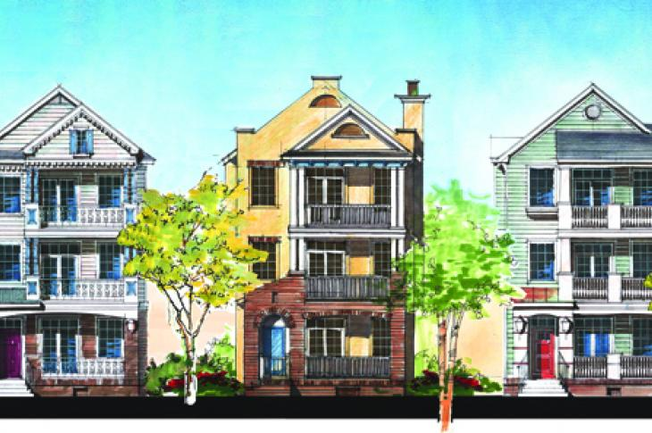 The facades of homes designed by The Evans Group to cater to multigenerational living.