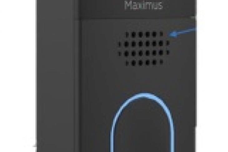 According to smart home security manufacturer Maximus Lighting, the Answer DualCam Video Doorbell is the first and currently the only dual-camera smart doorbell. The unit uses a 1,080-pixel HDR camera to eliminate blind spots at the top and bottom of the camera view, offering a 155-degree field of vision. The front-facing speaker plays messages and custom greetings, allowing two-way communication, and can be controlled via the Kuna app to view and speak to visitors, dial 911, or ring an alarm.
