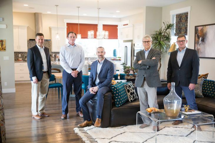 Thrive Home Builders, 2017 Builder of the Year, owner and partners
