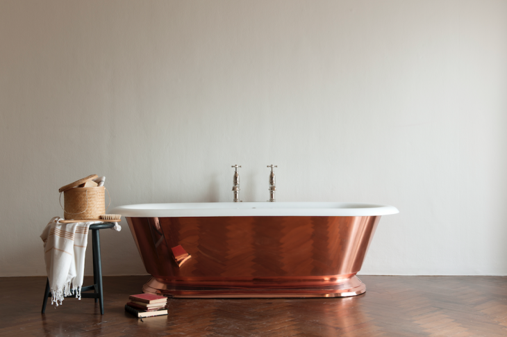 Tay copper tub by Drummonds
