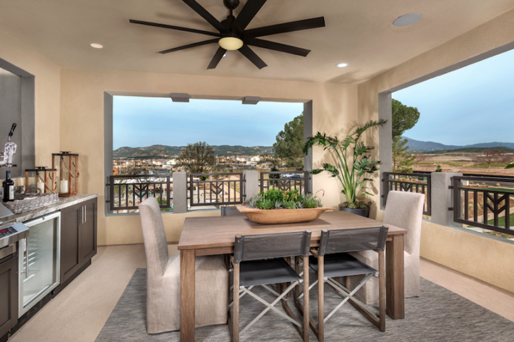 Outdoor living_TRI Pointe_Carlisle at Parasol Park_roof deck_Irving Gill style