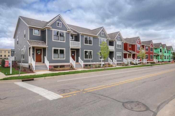 Tapestry Square townhomes on Logan St. Grand Rapids