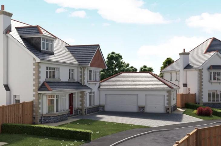 external flyaround of new homes using virtual reality