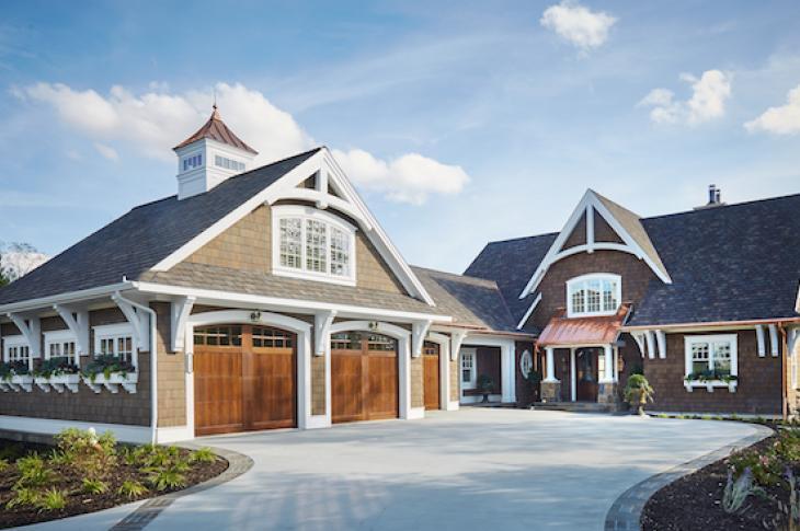 Front elevation of Waterleaf custom home in Michigan