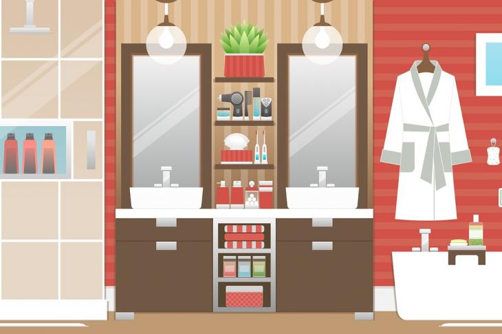 Bathroom interior illustration