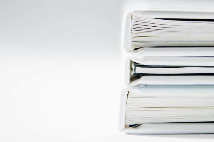 binders of papers