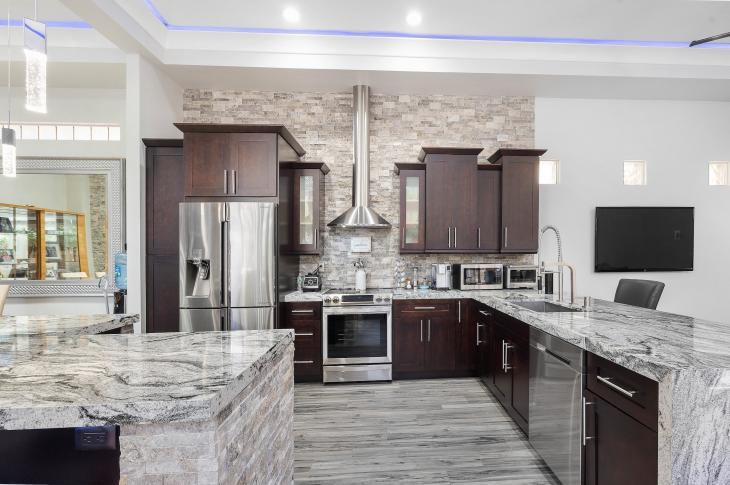 Kitchen | Despite the recent growth, luxury real estate home flipping remains less common than in the years leading up to the housing crash in 2008.