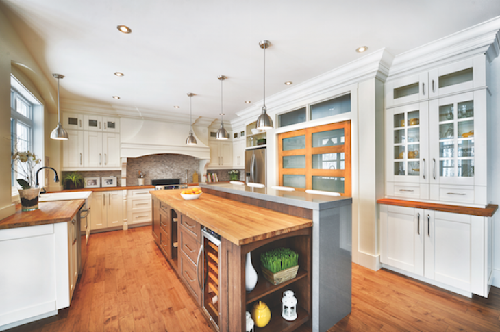Kitchen and bath trends_home sales_a light-filled kitchen by Canadian manufacturer Cuisines Laurier.