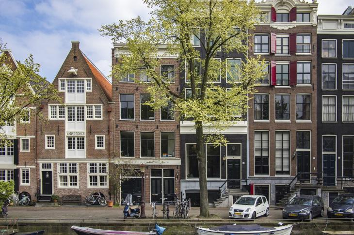 Streetscape in Amsterdam, Netherlands