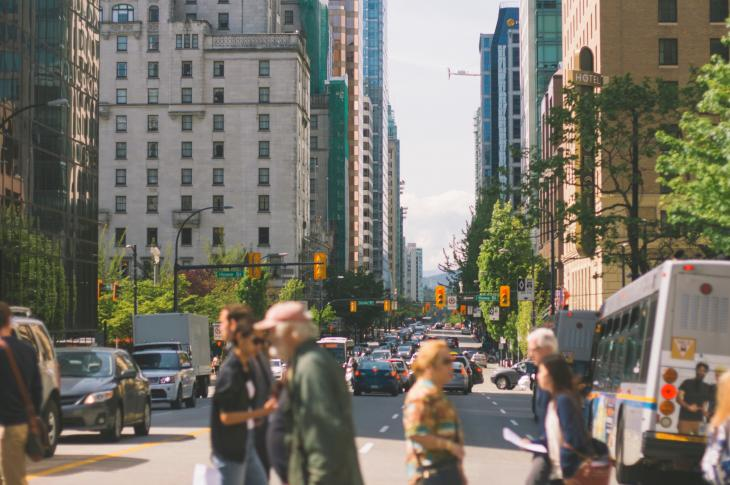 People in a city, which is where many Baby Boomers are choosing to live—rather than suburbs