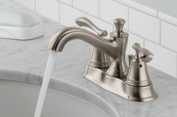 Bathroom faucet in an upgraded sink
