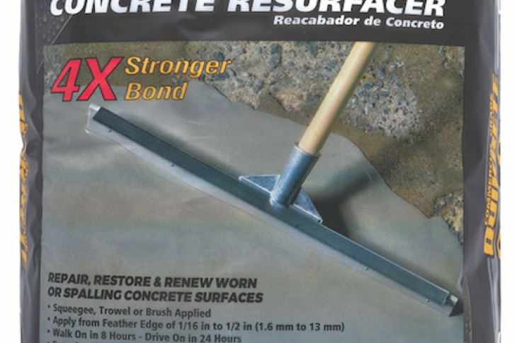 Re-Cap Concrete Resurfacer from Quikrete makes it fast and easy to transform deteriorated concrete surfaces into a durable, long-lasting sidewalk, driveway, or patio. The resurfacer bonds to concrete stronger than the concrete itself, the company says. It applies with a squeegee, trowel, or brush and has a walk-on time of  8 hours and drive-on time of 24 hours. IBS Booth C5315.
