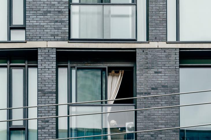 rental apartment building exterior