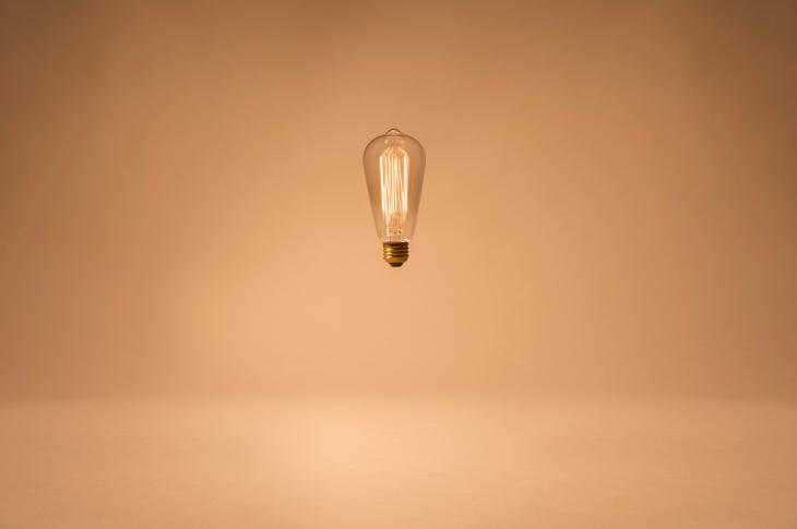 Antique light bulb in the air Photo via Unsplash/Sean Patrick Murphy