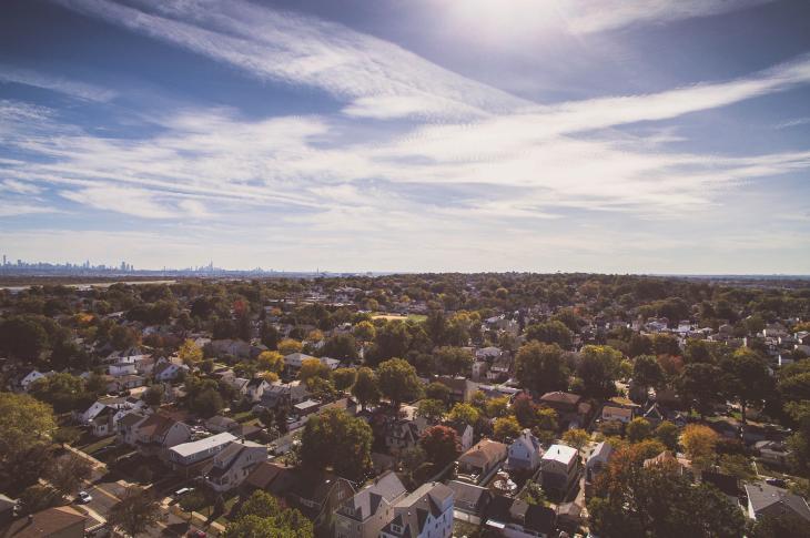 Suburban area near a city