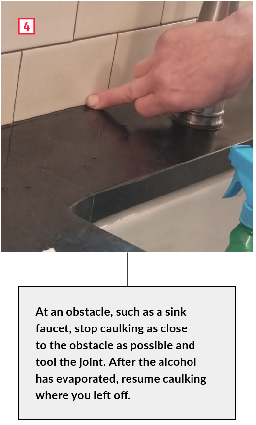 How to Tool a Caulked Tile Joint Without Making a Mess
