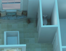 3-D tools to help visualize a bathroom remodel