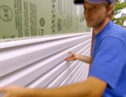 vinyl siding installation