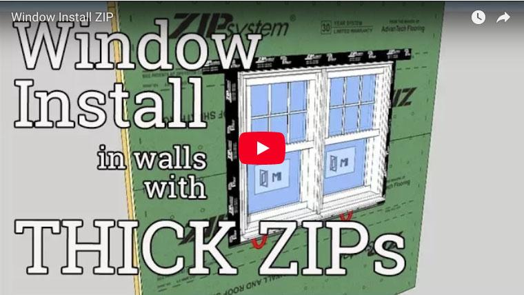 A Window Install in a Thick ZIP Wall | ProTradeCraft