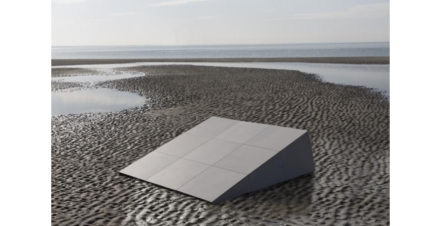 Tile manufacturer Mosa has developed a new line of dynamic ceramic tiles that adds a fourth dimension to flooring—time. The μ (mu) tiles interact with space and time, changing appearance based on their surroundings and the time of day.