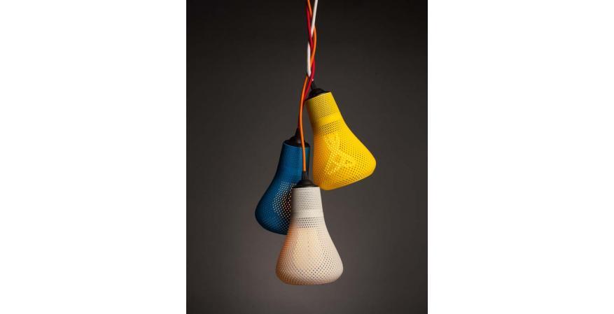 3 Pluman Kayan 3D-printed lights