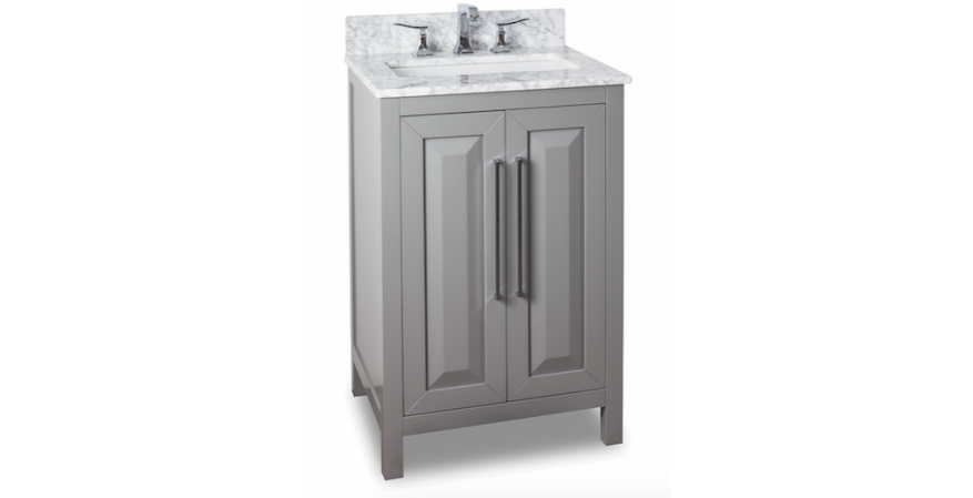 Jeffrey-Alexander-Cade-Contempo-24 inch vanity for small bathroom in gray