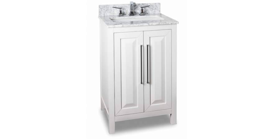 Jeffrey Alexander Cade Contempo 24-inch vanities for small bathroom in white