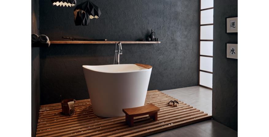 Aquatica true ofuro tranquility freestanding Japanese bathtub