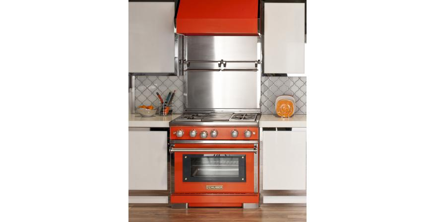 Grilling equipment manufacturer Caliber Appliances has introduced a new line of indoor professional ranges and rangetops that can be customized to client specifications.