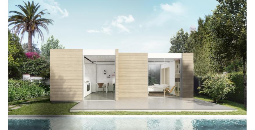 Cover prefab Pool House exterior