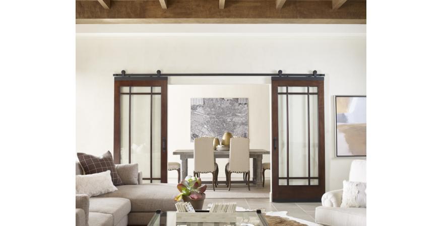 Jeld-Wen DesignGlide barn door hardware double door open
