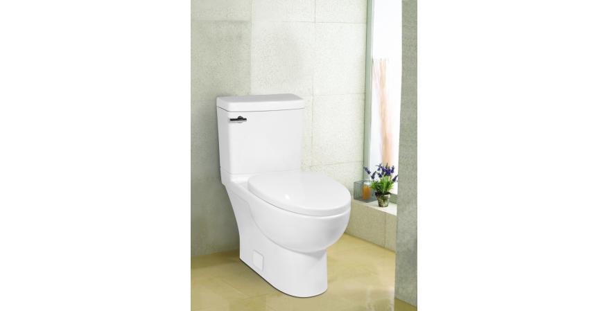 ICERA USA Malibu low flow toilet for small bathroom in white