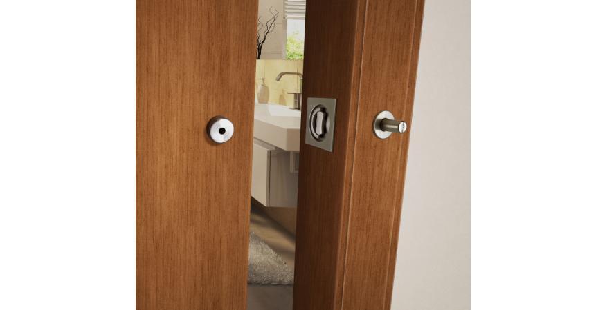 INOX Barn Door Lock stainless steel finish wood door