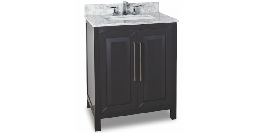 Jeffrey-Alexander-Cade-Contempo 30 inch vanity for small bathroom in black