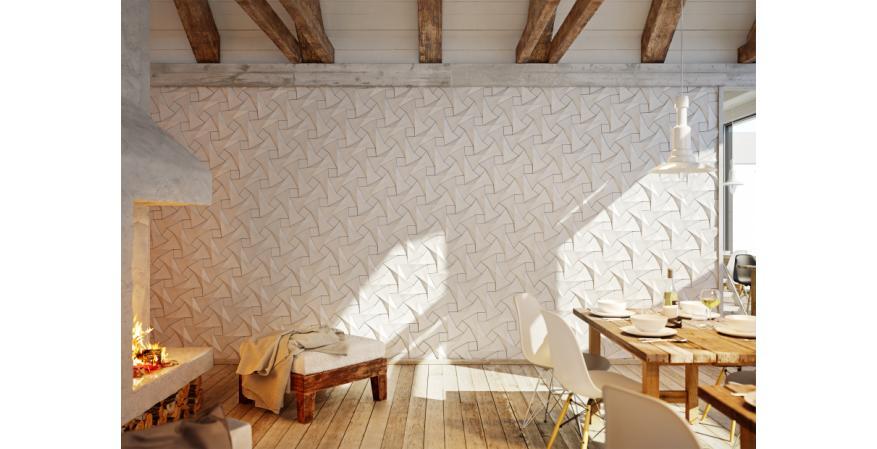 KAZA Quadilic tile designed by origami artist Ilan Garibi