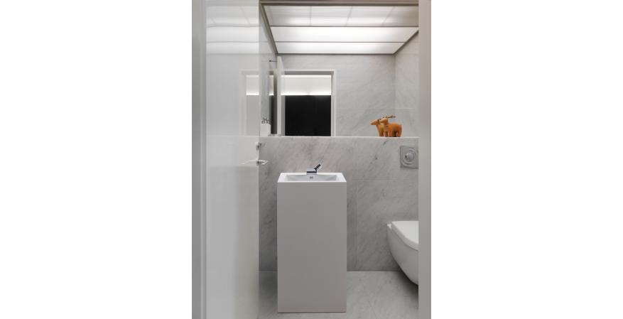 Petra pedestal MTI sinks for small bathrooms