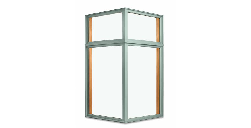 MARVIN WINDOWS & DOORS Marvin's 90-degree Corner Window helps maximize views and capture light from multiple angles. It is available in symmetrical or asymmetrical configurations and in sizes up to 72 inches by 102 inches. MARVIN.COM