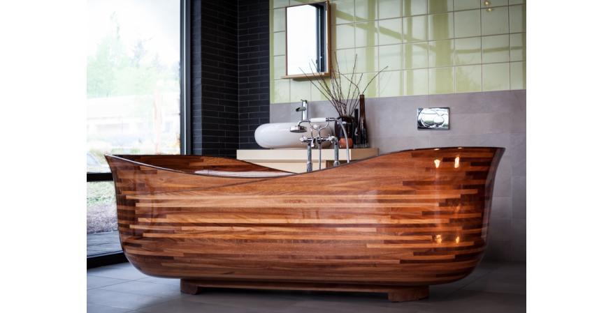 stunning wood bathtubs