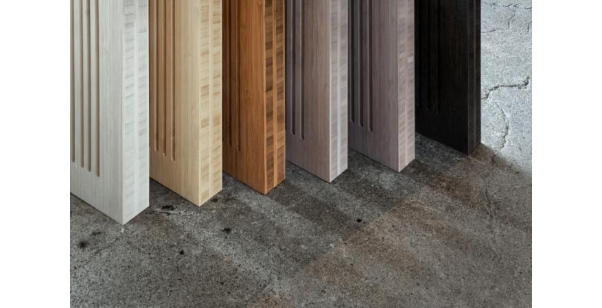 Architectural hardware manufacturer Krownlab and bamboo products maker Smith & Fong have launched a new high-end interior door system called PlybooDoor. It comes in various colors.