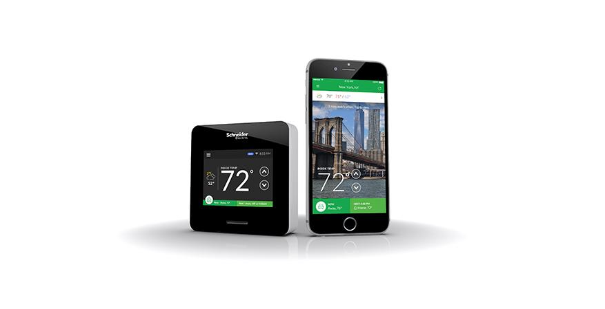Schneider Electric's newly introduced Wiser Air Wi-Fi smart thermostat integrates an Eco IQ self-learning feature that takes the guesswork out of determining what temperature is optimal for users and instead learns and uses feedback to create a heating and cooling plan.
