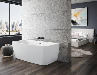 BainUltra VIBE Back to Wall 5828 Urban Bath Tub