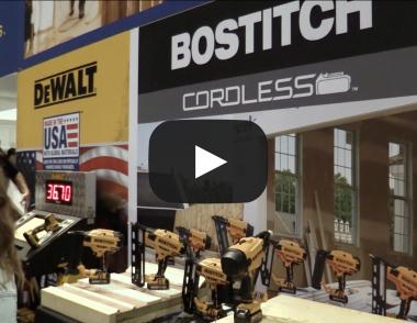 Bostitch nail gun tools at IBS 2018